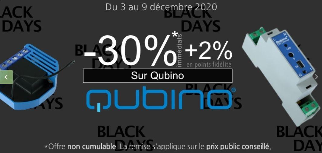 30 % de remise immédiate sur modules qubino