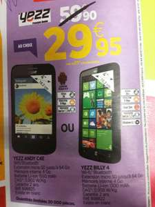 "Smartphone 4"" Yezz Andy C4E ou Billy 4"
