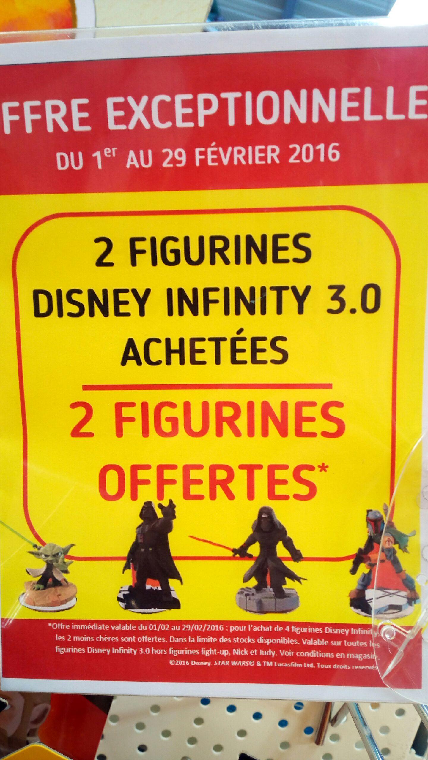 2 figurines Disney Infinity 3.0 achetés = 2 offertes