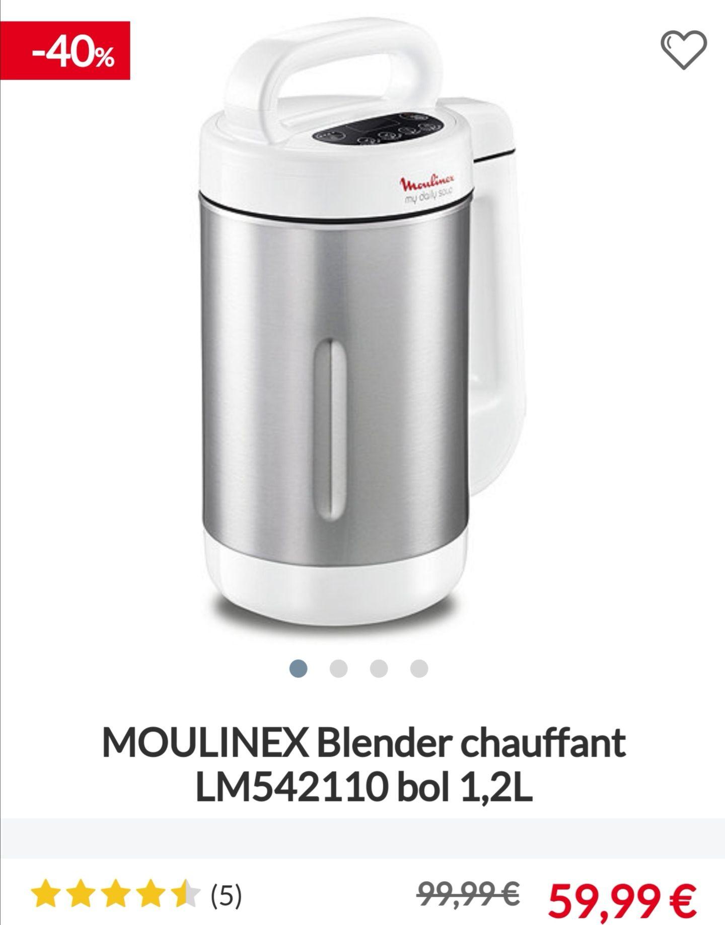 Blender Chauffant Moulinex LM542110 - 1,2L / 1000w