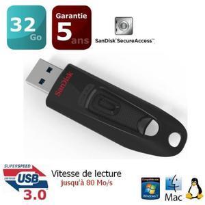 Clé USB 3.0 SanDisk Ultra 32 Go