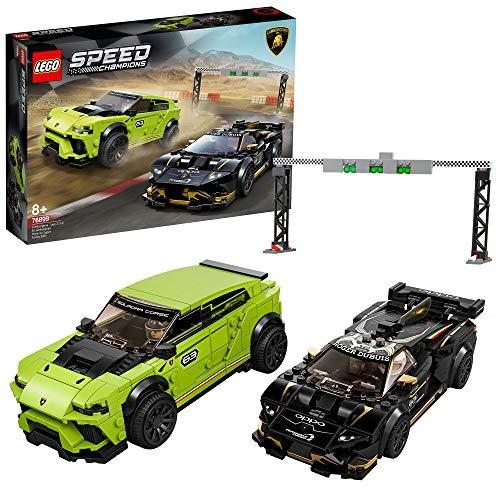 Jeu de construction Lego Speed Champions - Lamborghini Urus ST-X & Lamborghini Huracán Super Trofeo EVO n°76899