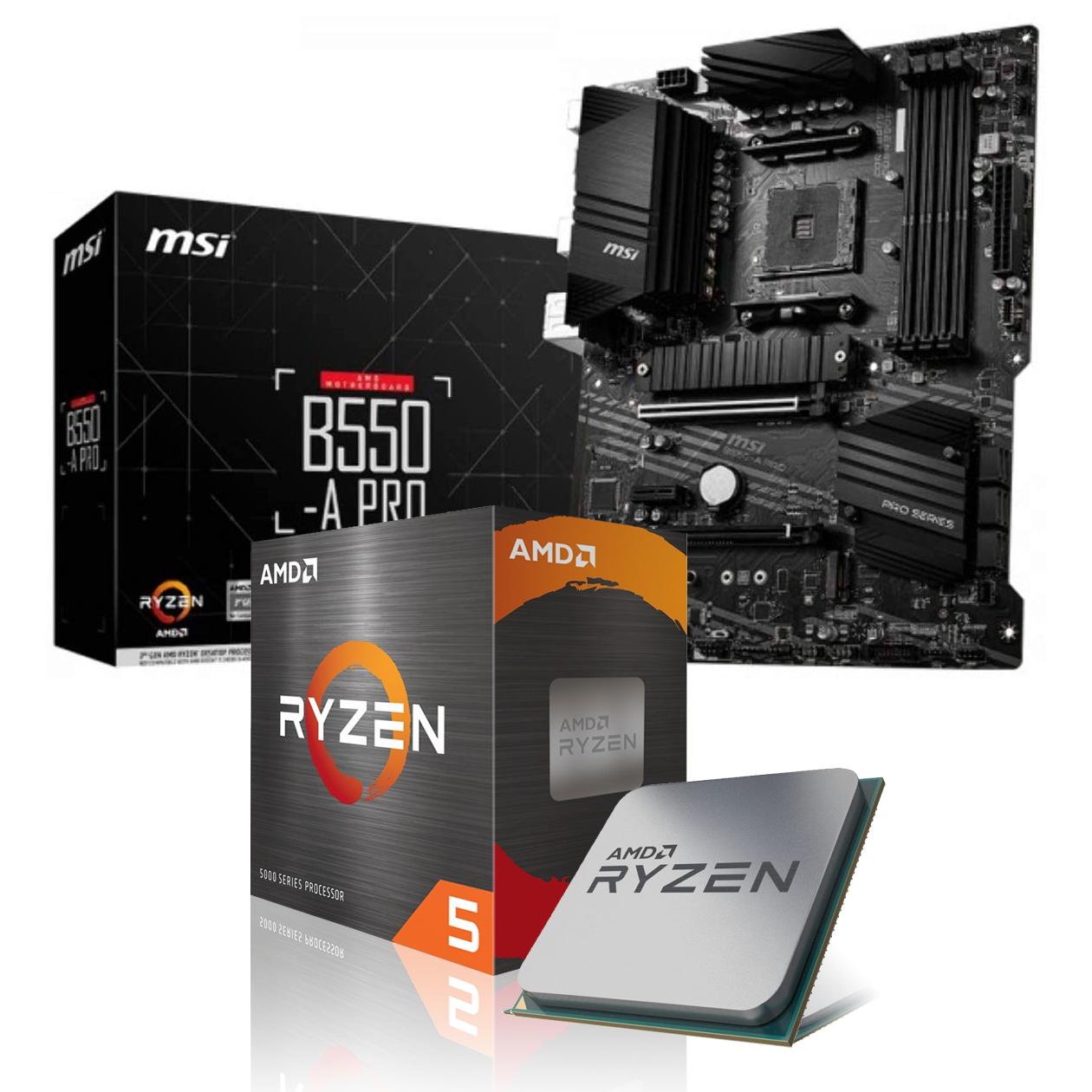 Kit AMD Ryzen 5 5600x + Carte mère MSI B550 Tomahawk + RAM Corsair Vengeance RGB 16go (2 x 8 Go).( Kit a modifier sur le site )