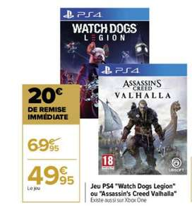 Assassin's creed Valhalla sur PS4 ou Xbox One