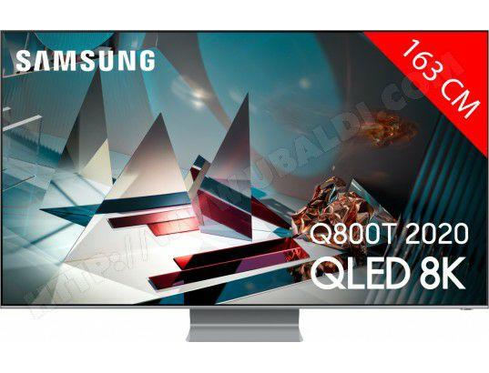 "TV 65"" Samsung QE65Q800TA (2020) - Quantum Processor 8K, Full LED Local Dimming Gold+"