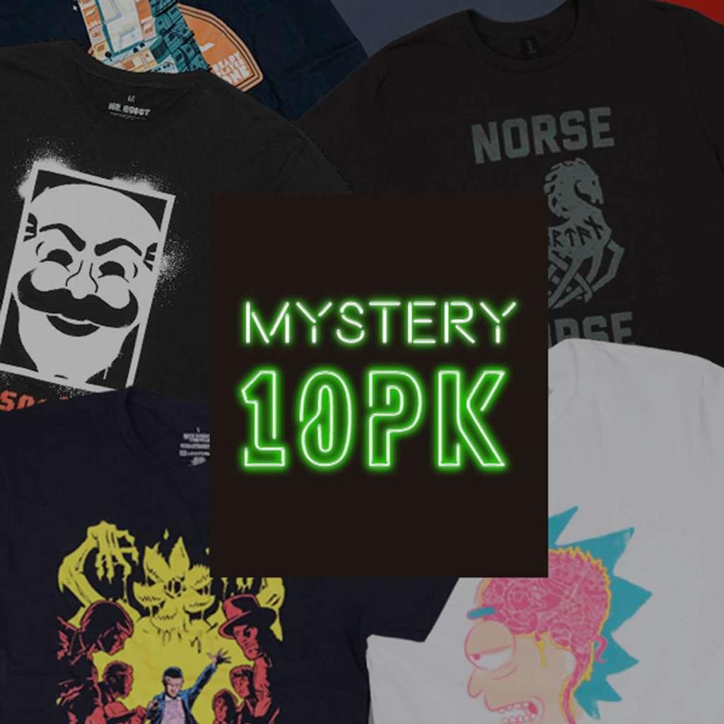 Lot de 10 T-Shirts Geek Aléatoire + Livraison gratuite