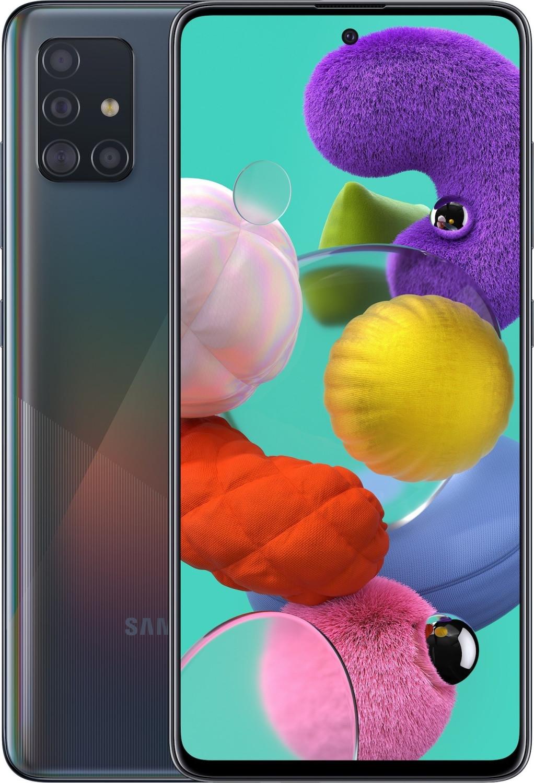 "Smartphone 6.5"" Samsung Galaxy A51 - full HD+, Exynos 9611, 6 Go de RAM, 128 Go, noir (+ 23€ en Rakuten Points)"