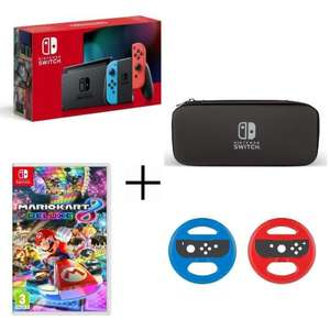 Pack Console Nintendo switch + Mario kart deluxe + 2 volant + housse