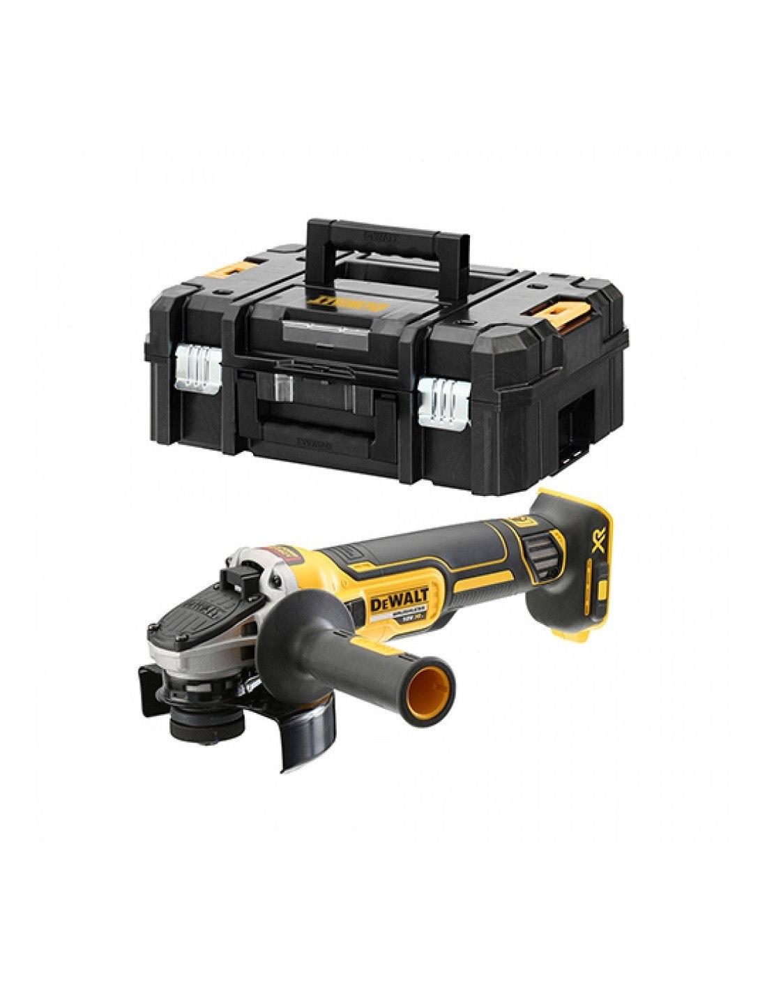 Meuleuse XR 18V 125 mm (machine seule) en coffret T-STAK - DEWALT - DCG405NT