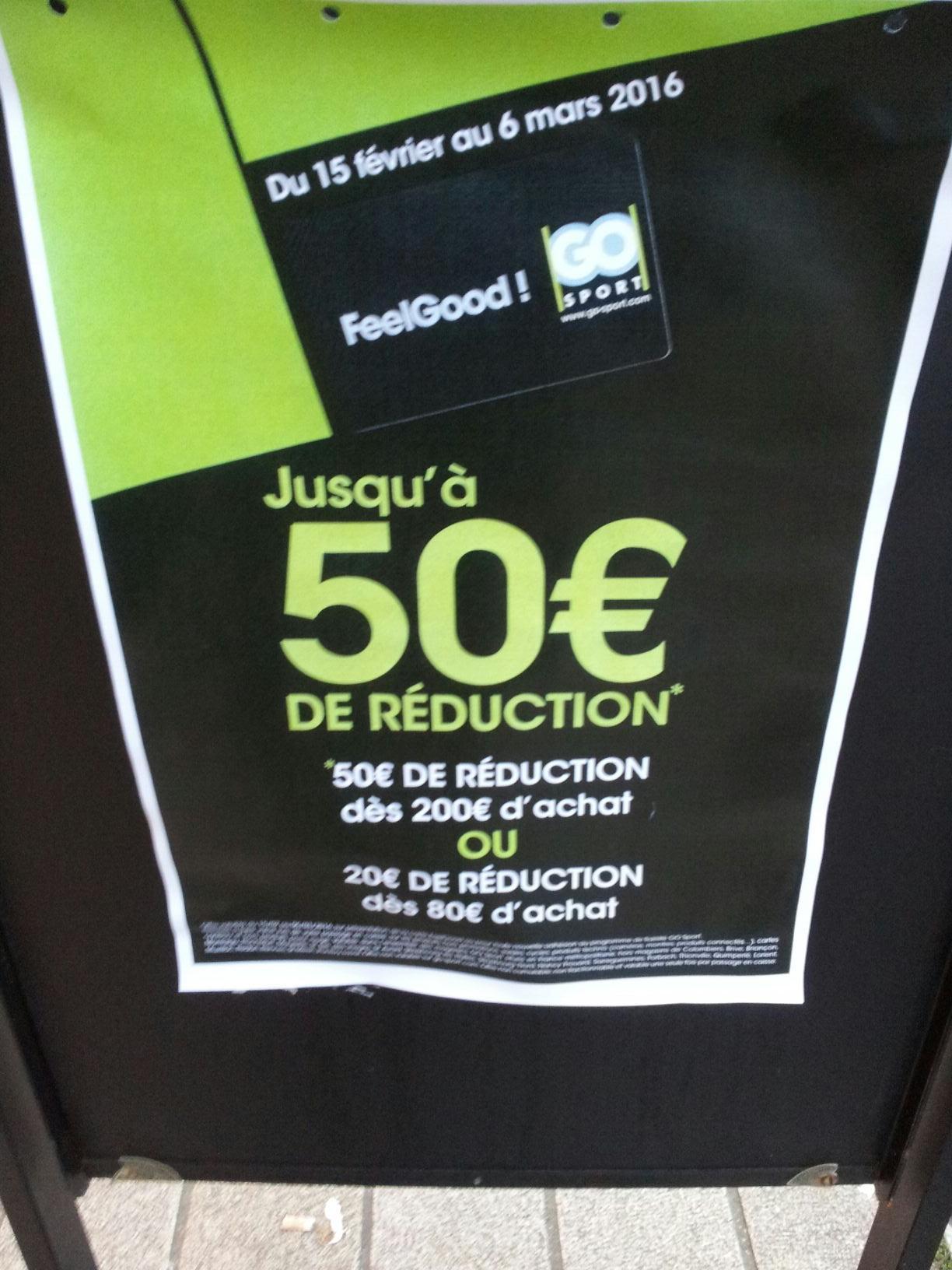 20€ de réduction dés 80€ d'achat ou 50€ dés 200€ d'achat