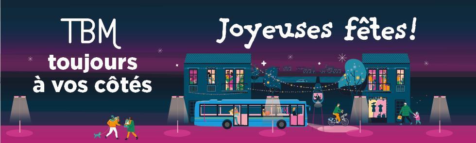 Pass Noël (Accès pendant 24h : Tram / Bus / Bat3 / P+R) - Transports Bordeaux Métropole (33)