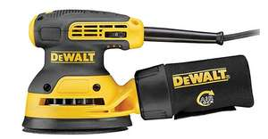 Ponceuse excentrique Dewalt DWE6423 - 125 mm, 280W (Via ODR de 25€)