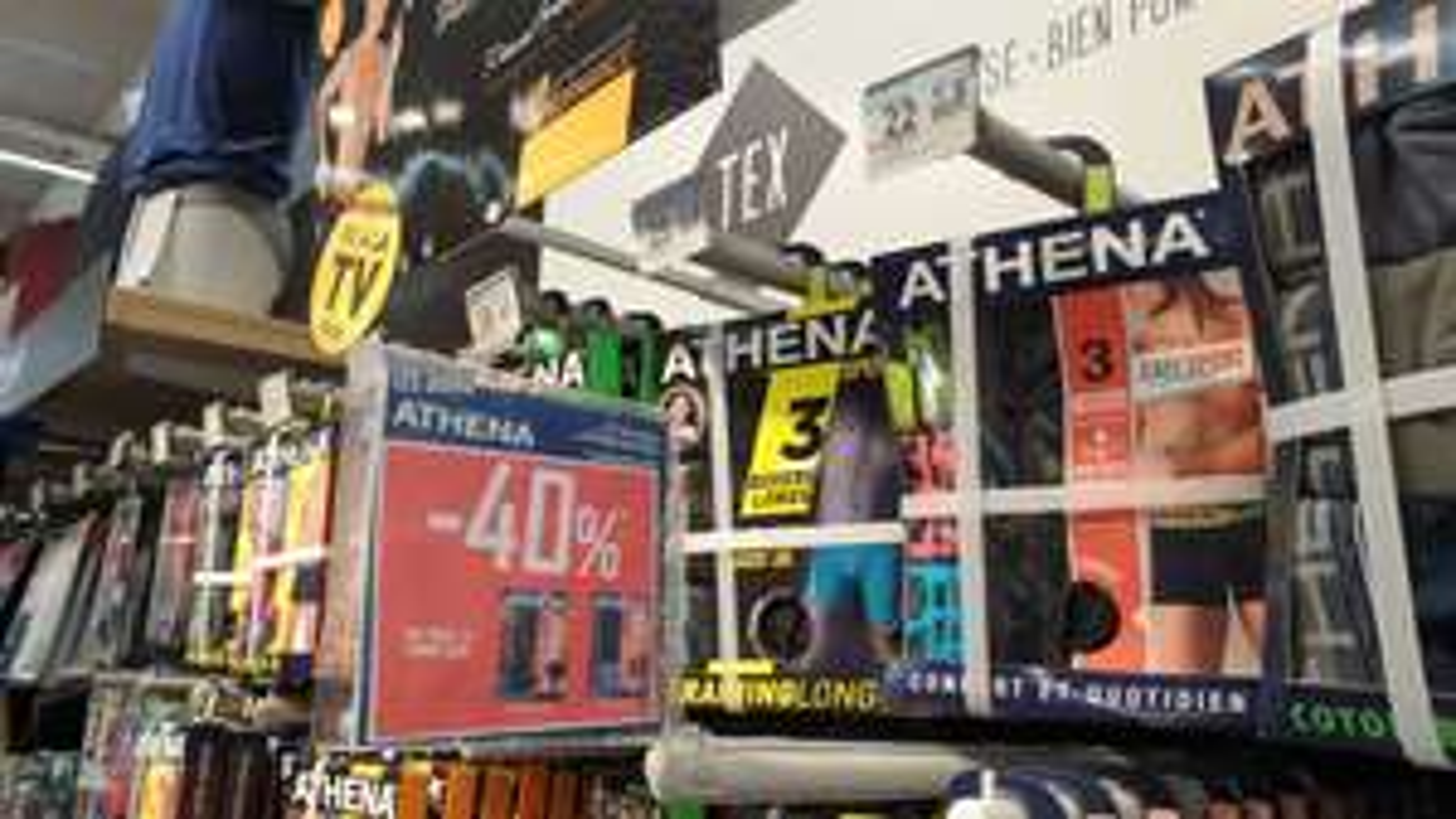 Lot de 3 boxers athena (+10€ en bon d'achat) - Carrefour Creteil (94)