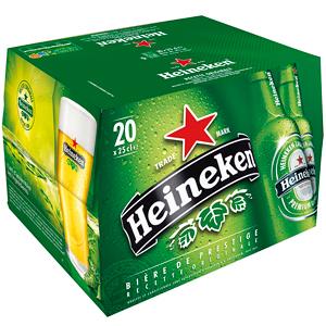pack de 20x25cl Bière Heinekein 5%
