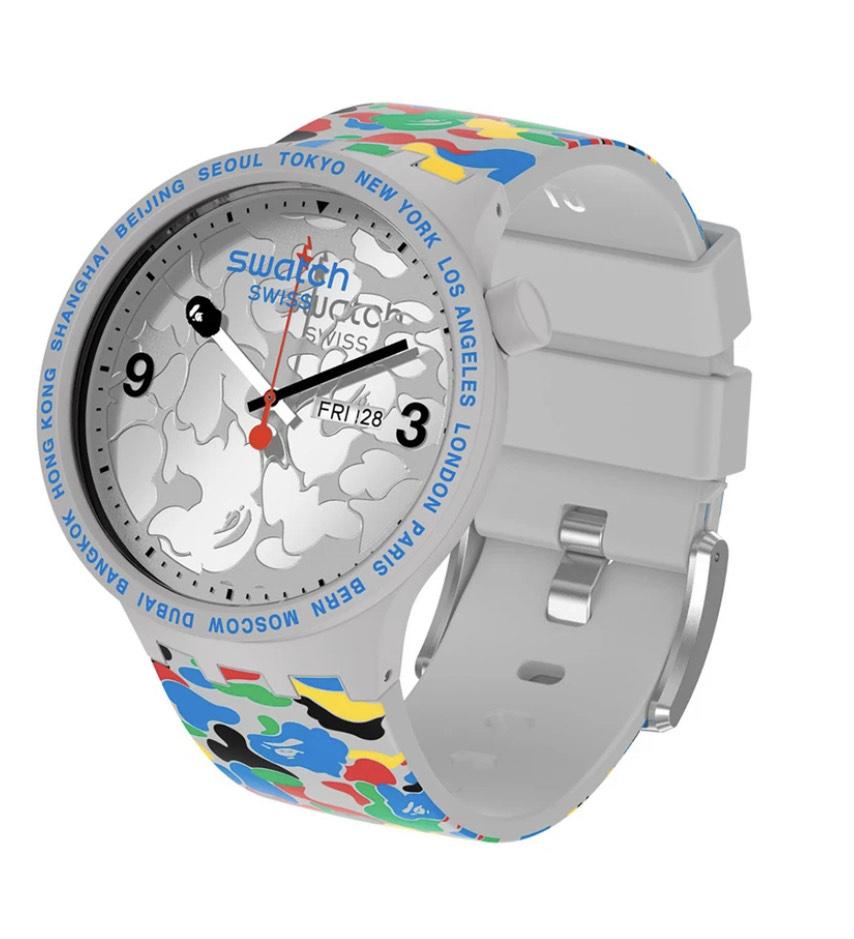 Montre à quartz Swatch X Bape - bapefrance.com