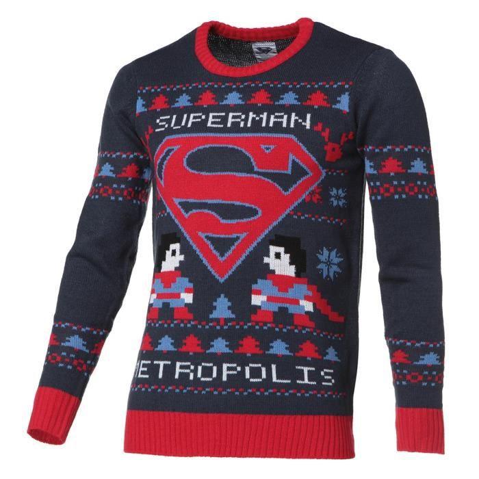 Sélection de Pull de Noël en promotion - Ex : Pull DC Comics Superman pour Homme - Tailles du S au 2XL