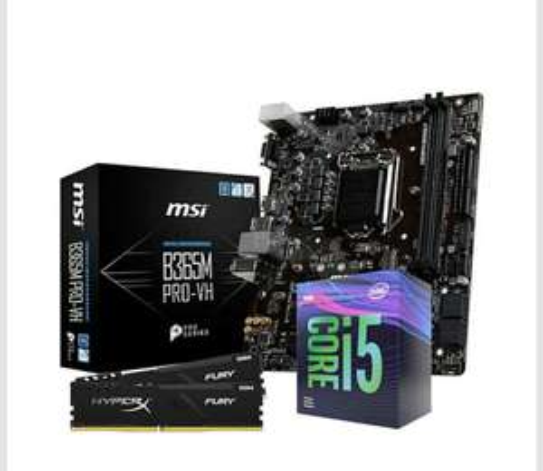 Kit Evo Processeur Intel i5 9400F + Carte Mère MSI B365M PRO-VH + Kit RAM HyperX Fury 16 Go (2 x 8 Go) 2666Mhz, CL16