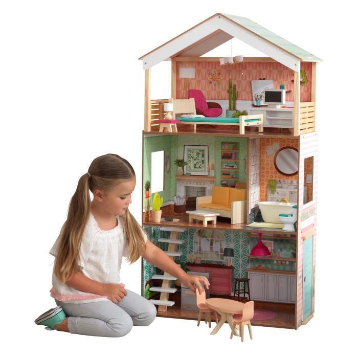 Maison de poupées en bois KidKraft Dottie (+10€ à cagnotter pour les CDAV)