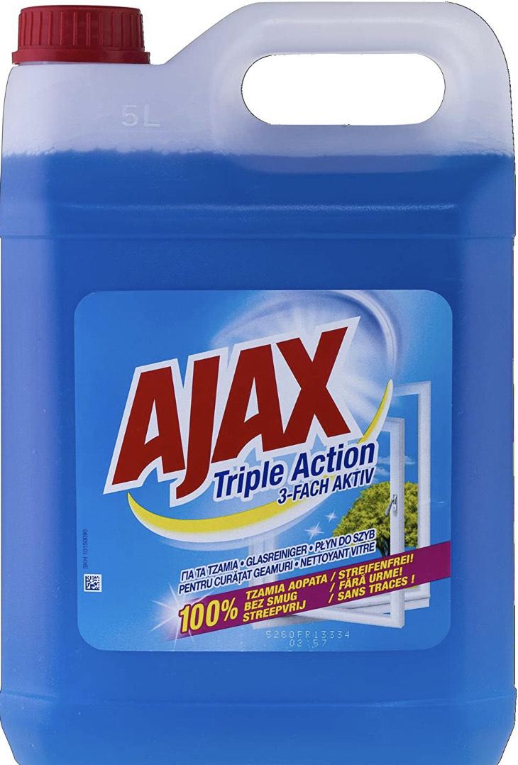 Ajax Nettoyant pour vitres triple actif 5 l