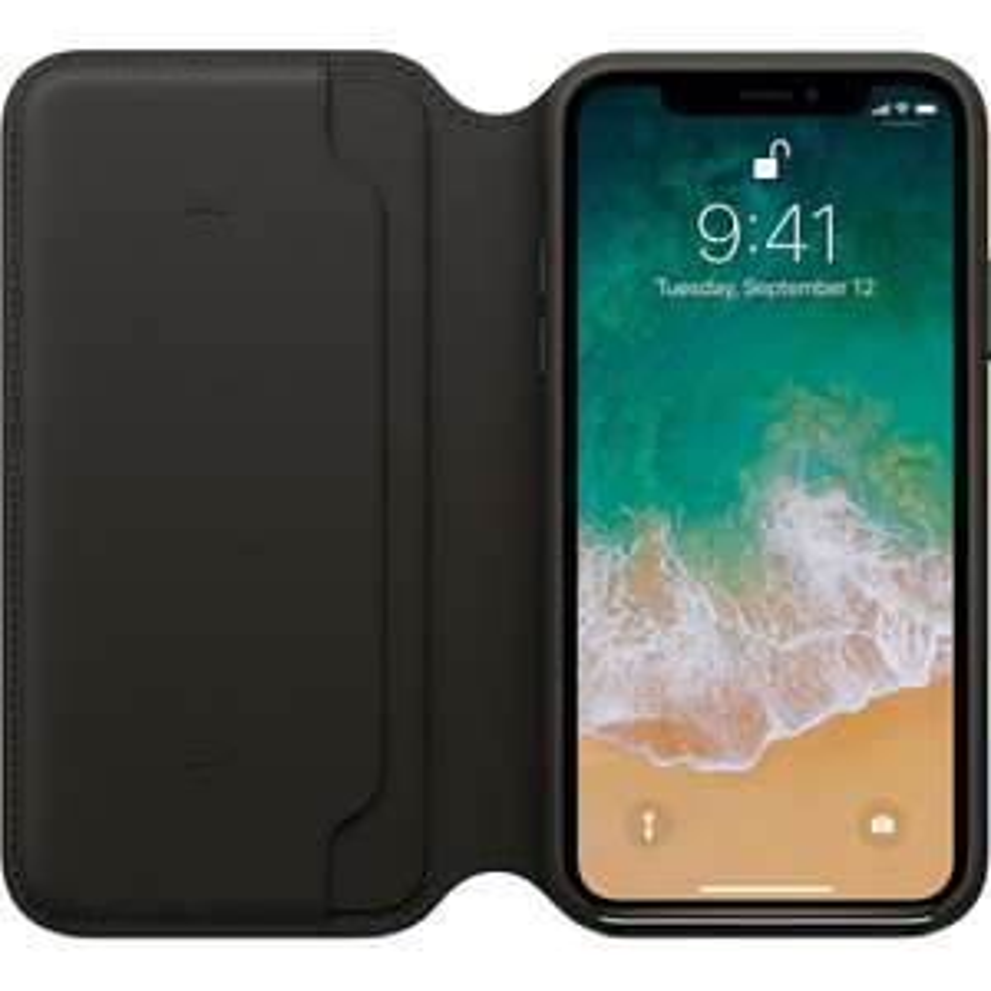 Housse iPhone X Leather Folio (iconcept.fr)