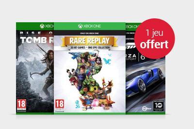 1 jeu Xbox One acheté = 1 jeu Xbox One offert parmi une Sélection - Ex : Halo 5 + Rise of The Tomb Raider