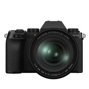 Hybride Fujifilm X-S10 nu Boîtier Noir + Fuji XF 55-200 mm F/3.5-4.8 (via ODR 200€)