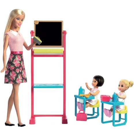 Jouet Mattel Barbie maîtresse d'école et sa classe