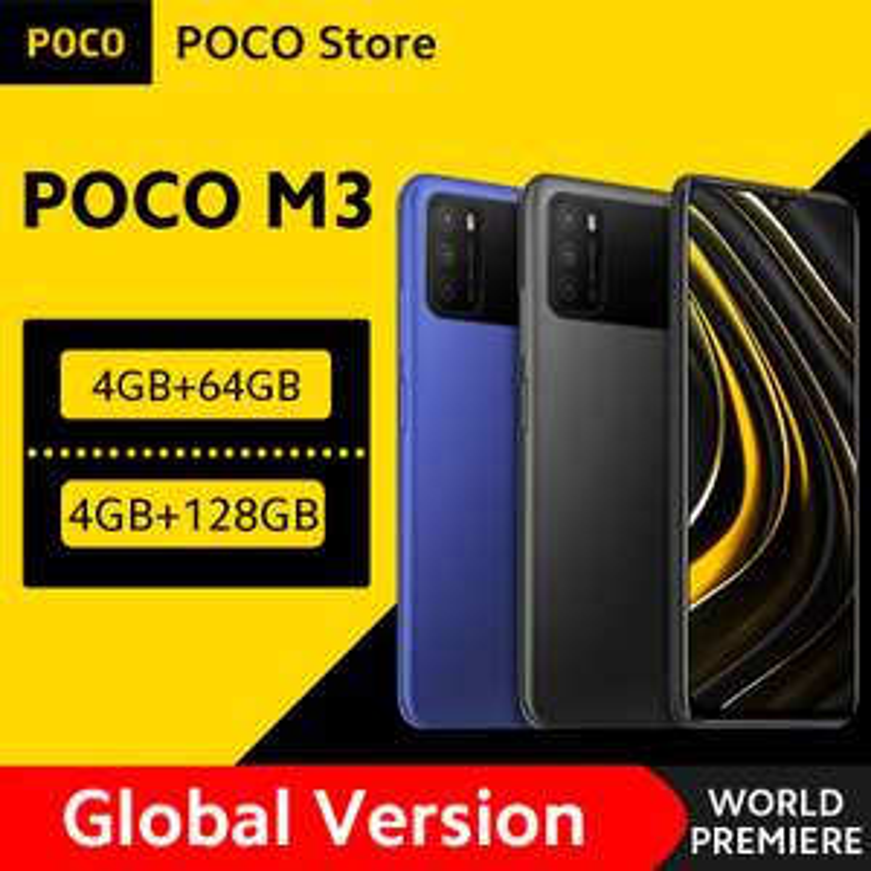 """Smartphone 6.53"""" Xiaomi Poco M3 - Snapdragon 662, 64 Go"""
