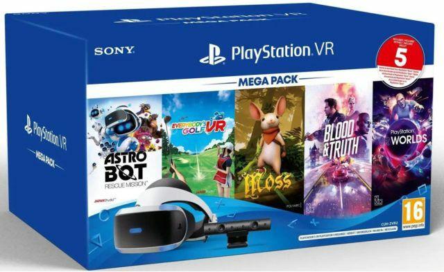 Mega Pack 3 Sony Playstation VR + Camera MK4 + VR Worlds + Moss + Astrobot + Everybody's Golf + Blood & Truth