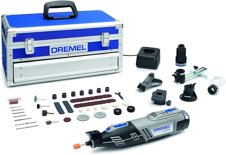 Outil rotatif multifonctions sans fil Dremel 8220 - 12 V, avec 2 batteries 2.0 Ah + 5 Adaptations + 65 accessoires (Via coupon)