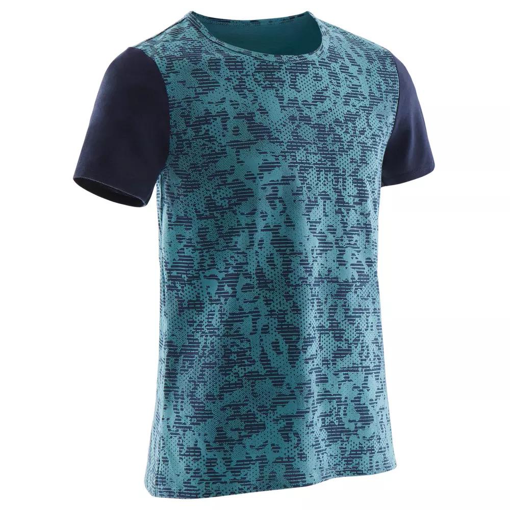 T-Shirt Manches courtes Domyos 100 pour Garçon - 5 à 15 ans