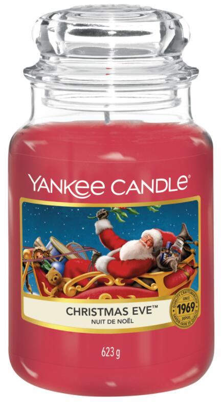 Sélection de bougies Yankee Candle en promotion - Ex : Bougie parfumée jarre grand modèle - Nuit de Noël