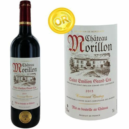 Bouteille de vin rouge Château Morillon Saint Emilion Grand Cru 2013