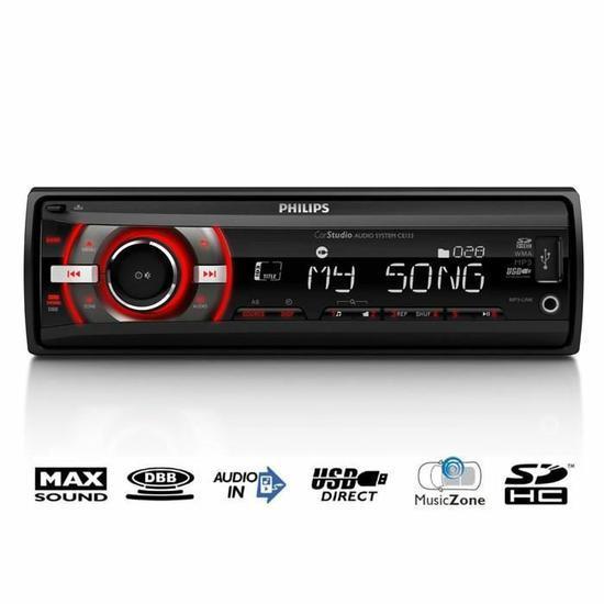 Autoradio Philips CE133 - 4 x 22W USB / SD (Via ODR  de 15€)