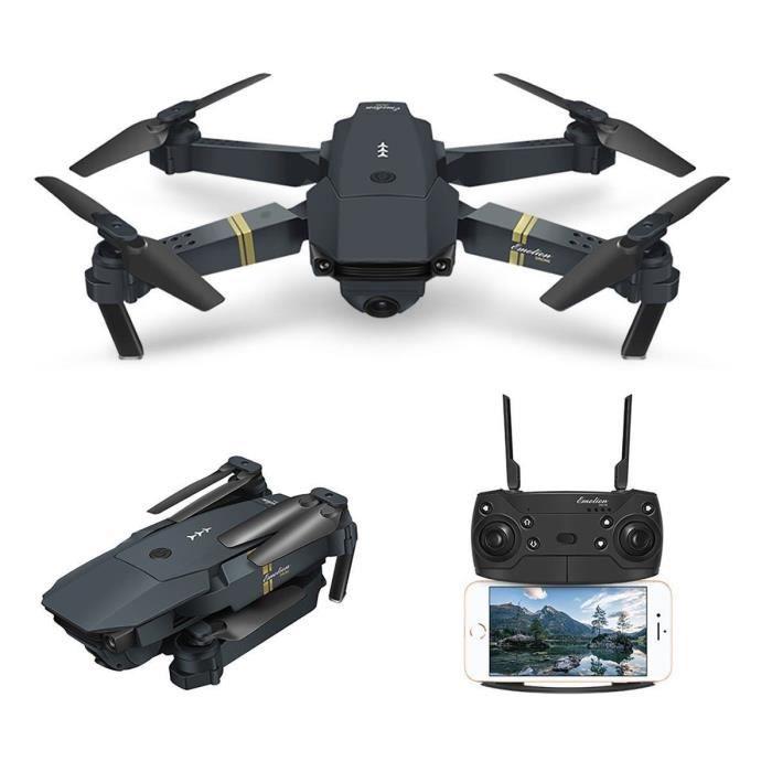Drone quadricoptère Eachine E58 - Wifi RC, 2MP 720P, Caméra grand angle, 3 batteries (vendeur tiers)