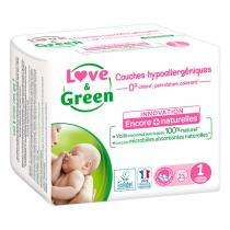 30% de réduction sur les Couches love & green