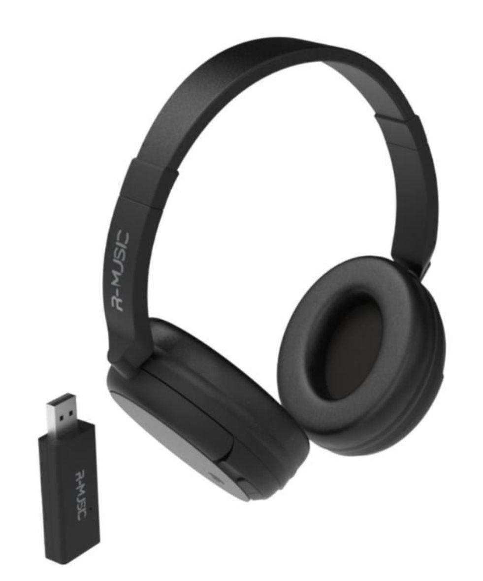 Casque TV sans fil R-Music RM311012 - Transmetteur USB