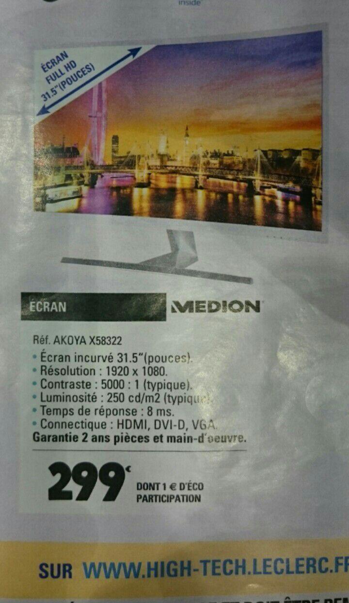 """Écran 31.5"""" Medion Akoya X58322 - Incurvé, Full HD"""