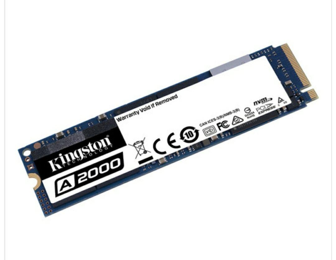 SSD M.2 Kingston Technology A2000 - 500 Go, PCI-EX 3.0 NVMe (SA2000M8/500G)