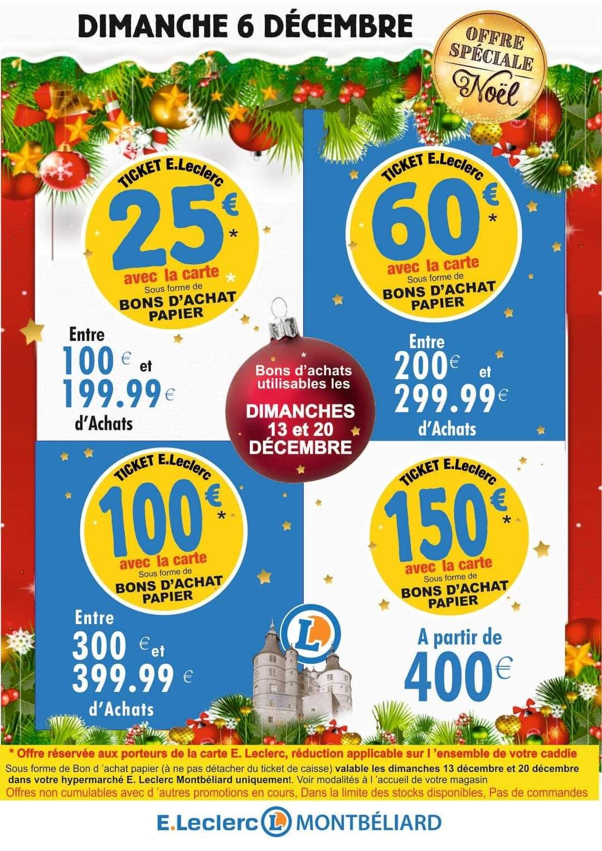 Jusqu'à 150€ en bon d'achat dès 400€ d'achat en magasin - Montbéliard (25)