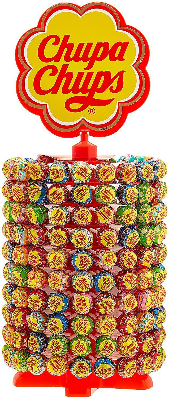 Présentoir Carrousel de 200 Sucettes Chupa Chups - 2,4Kg (Plusieurs variétés)