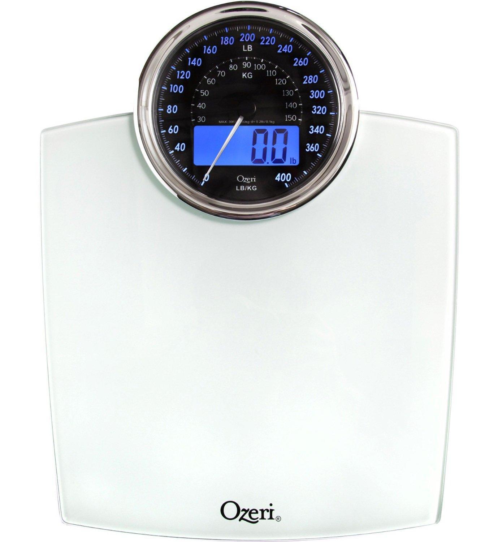 Pèse-personne numérique de salle de bain Ozeri Rev avec cadran électromécanique