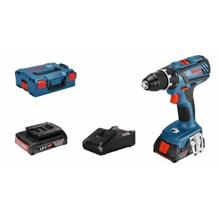 Perceuse-visseuse sans fil Bosch Professional GSR 18V-28 + 2 batteries 2Ah + L-Case