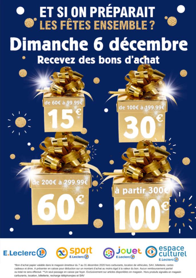 Sélection d'offres promotionnelles - Ex: 100€ offerts en bon d'achat dès 300€ d'achat - Erstein / Sélestat (67)