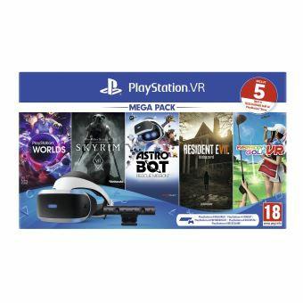 Pack Casque Sony Playstation VR + Caméra MK4 + VR Worlds + Skyrim + Astrobot + Everybody's Golf + Resident Evil 7 Biohazard
