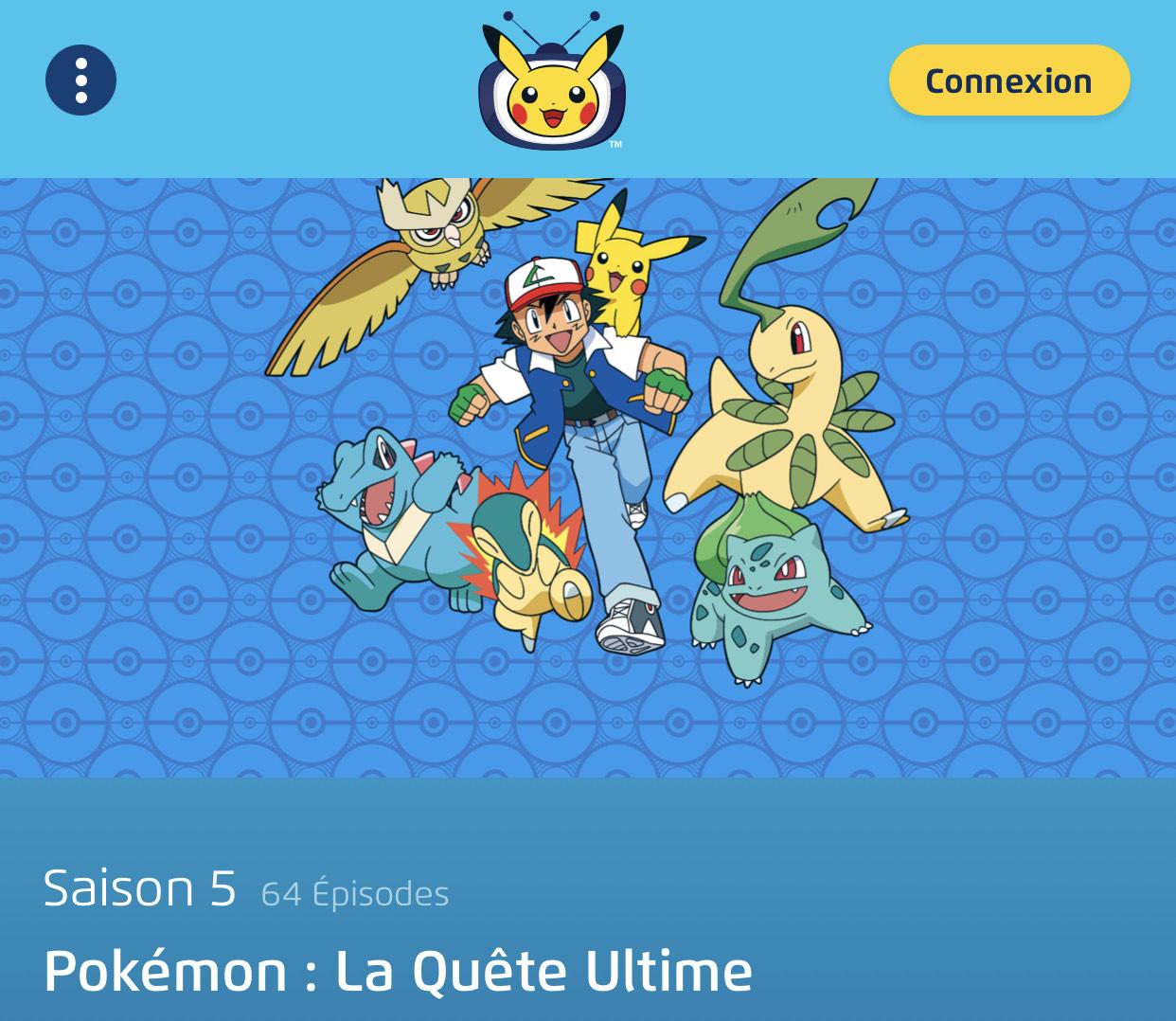 Pokémon Saison 5 visionnable gratuitement
