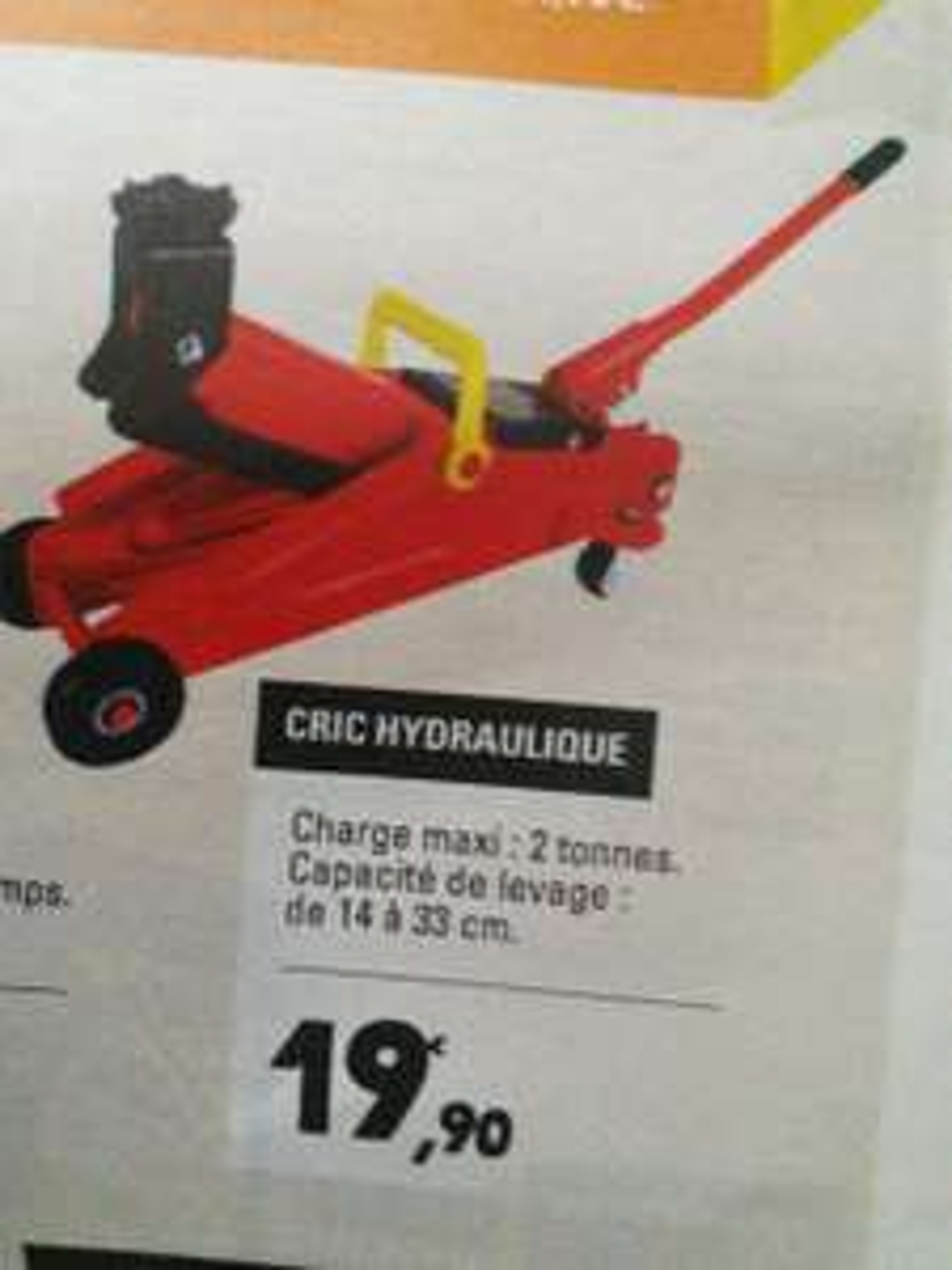 Cric hydraulique (char max : 2 Tonnes)