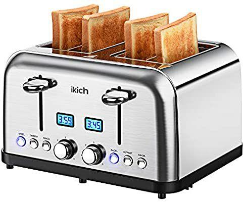 Grille-Pain 4 Fentes Ikich - 1750W (Vendeur tiers)