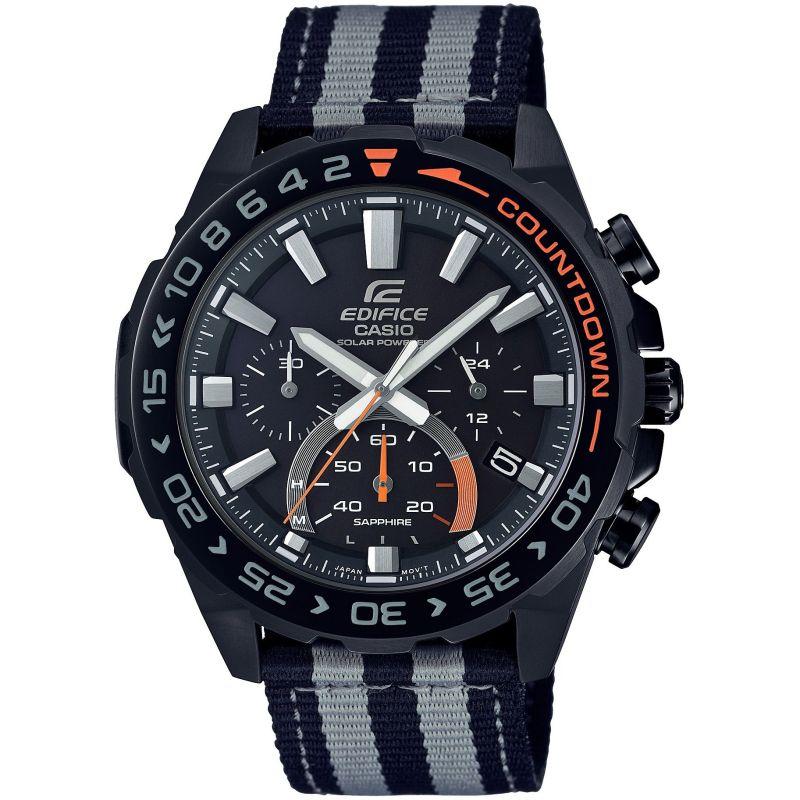 Montre Casio Edifice Solaire Sapphire Chronograph EFS S550BL-1AVUEF