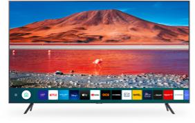 """TV 65"""" Samsung 65TU7125 - 4K UHD, HDR, Smart TV + 24 mois d'abonnement au forfait Bbox Fibre (1Gbps down, 500Mbps up), TV, Appels Mobiles"""